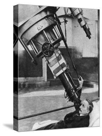 Twenty-Eight-Inch Reflecting Telescope, Greenwich Observatory, London, 1926-1927--Stretched Canvas Print