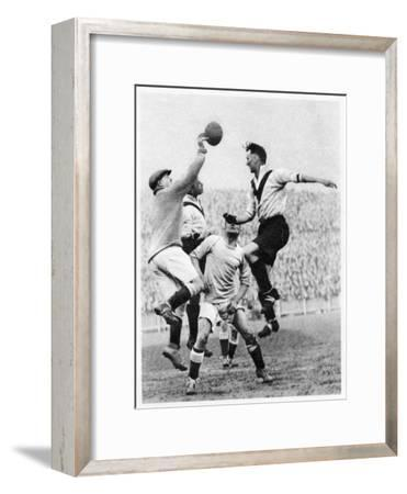 Goalmouth Action at Clapton Orient, London, 1926-1927--Framed Giclee Print
