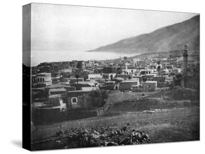 Tiberias and the Lake of Galilee, 1926--Stretched Canvas Print