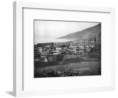 Tiberias and the Lake of Galilee, 1926--Framed Giclee Print