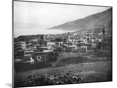 Tiberias and the Lake of Galilee, 1926--Mounted Giclee Print