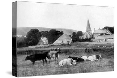 A Village Church, 1926--Stretched Canvas Print