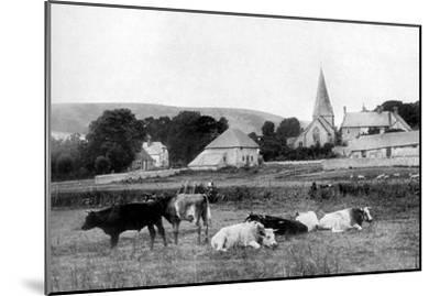 A Village Church, 1926--Mounted Giclee Print