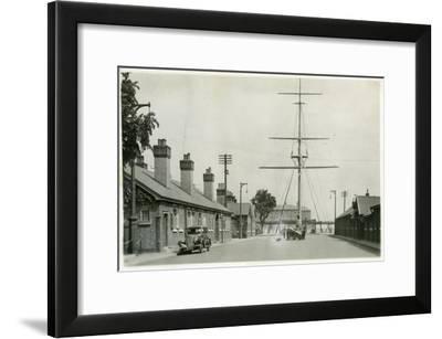 The Quarterdeck, Royal Navy Training Establishment, Shotley, Suffolk, 1936--Framed Giclee Print