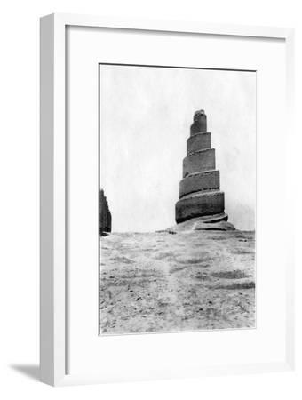 Malwiya Tower, Samarra, Mesopotamia, 1918--Framed Giclee Print