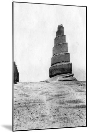 Malwiya Tower, Samarra, Mesopotamia, 1918--Mounted Giclee Print