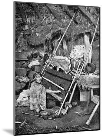 Araucanian Woman Weaving, Chile, 1922--Mounted Giclee Print