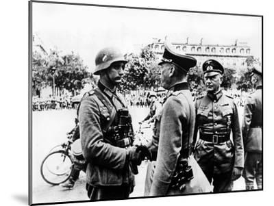 German Victory Parade after the Capture of Paris, June 1940--Mounted Giclee Print