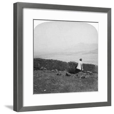 Spion Kop, from a Boer Trench on Krantz Kloot, South Africa, 1901-Underwood & Underwood-Framed Giclee Print