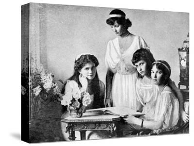 Russian Royal Ladies, Tsarkoe Military Hospital, 1914--Stretched Canvas Print