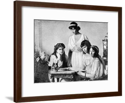 Russian Royal Ladies, Tsarkoe Military Hospital, 1914--Framed Giclee Print