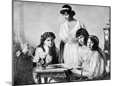 Russian Royal Ladies, Tsarkoe Military Hospital, 1914--Mounted Giclee Print