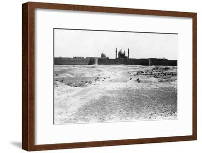Golden Dome and Minarets of the Samarra Mosque, Mesopotamia, 1918--Framed Giclee Print