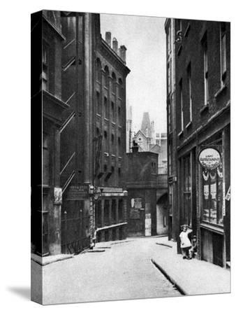 From the Old Bailey Looking Down the Hill of Fleet Lane, London, 1926-1927--Stretched Canvas Print