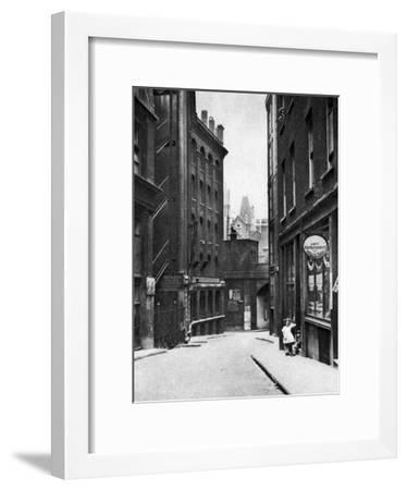 From the Old Bailey Looking Down the Hill of Fleet Lane, London, 1926-1927--Framed Giclee Print