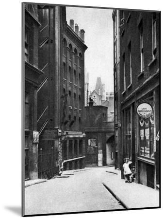 From the Old Bailey Looking Down the Hill of Fleet Lane, London, 1926-1927--Mounted Giclee Print