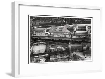 Aerial View of the Deutsches Museum, Munich, Germany, from a Zeppelin, C1931--Framed Giclee Print