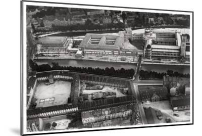 Aerial View of the Deutsches Museum, Munich, Germany, from a Zeppelin, C1931--Mounted Giclee Print