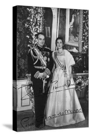 Prince Rainier III and Princess Grace of Monaco, 20th Century--Stretched Canvas Print