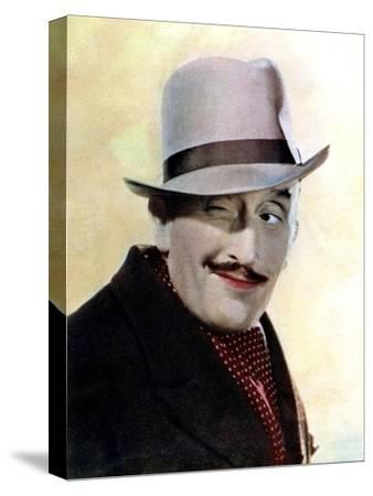 Tom Walls, English Actor and Director, 1934-1935--Stretched Canvas Print