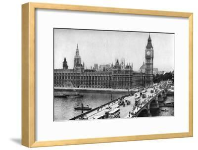 The Houses of Parliament and Westminster Bridge, London, 1926-1927--Framed Giclee Print