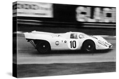 Gulf Porsche 917 in Action, C1970-C1971--Stretched Canvas Print