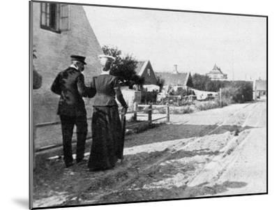 Landing at Skagen, Denmark, 1908--Mounted Giclee Print