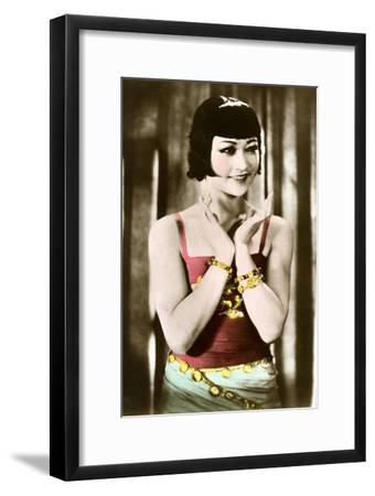 Anna May Wong (1905-196), Chinese-American Actress, 20th Century--Framed Giclee Print