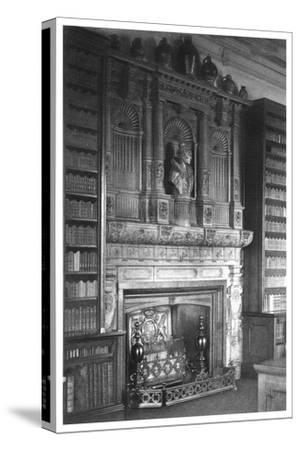 Chimney Piece of the Library at Windsor Castle, 1896--Stretched Canvas Print