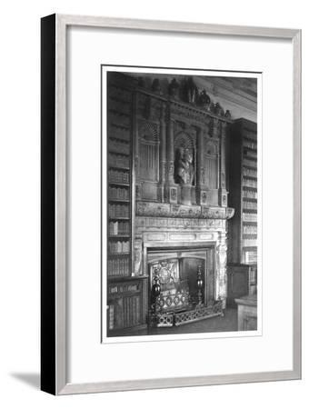 Chimney Piece of the Library at Windsor Castle, 1896--Framed Giclee Print