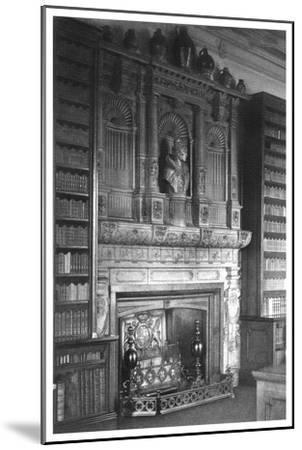 Chimney Piece of the Library at Windsor Castle, 1896--Mounted Giclee Print