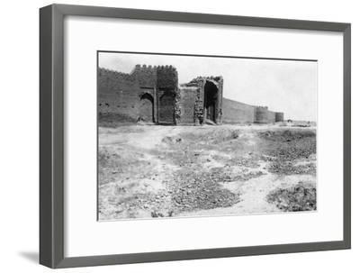 City Gate, Samarra, Mesopotamia, 1918--Framed Giclee Print