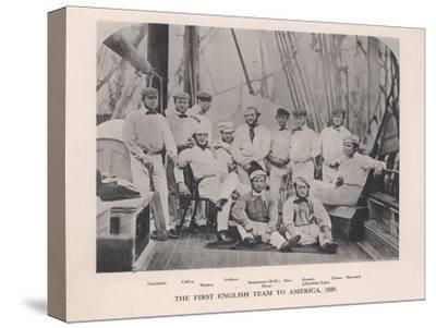The First English Cricket Team to Tour America, 1859--Stretched Canvas Print