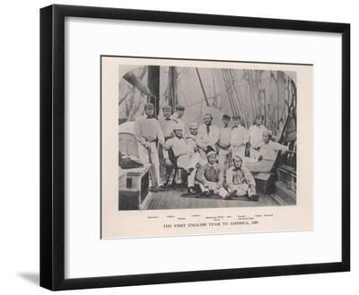 The First English Cricket Team to Tour America, 1859--Framed Giclee Print