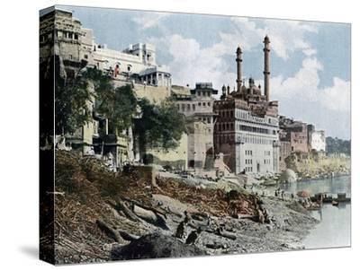 The Aurangzeb Mosque, Varanasi, India, C1890--Stretched Canvas Print