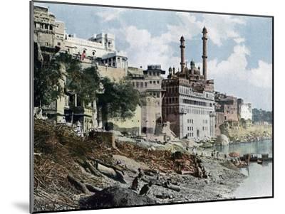 The Aurangzeb Mosque, Varanasi, India, C1890--Mounted Giclee Print