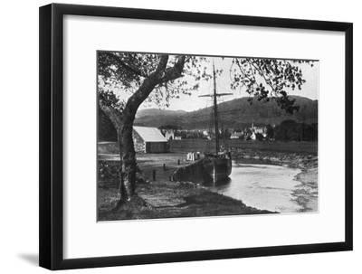 The Harbour, Gatehouse of Fleet, Dumfries and Galloway, Scotland, 1924-1926-Valentine & Sons-Framed Giclee Print