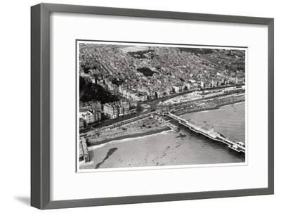 Aerial View of Brighton, Sussex, from a Zeppelin, 1931--Framed Giclee Print