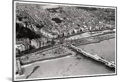 Aerial View of Brighton, Sussex, from a Zeppelin, 1931--Mounted Giclee Print