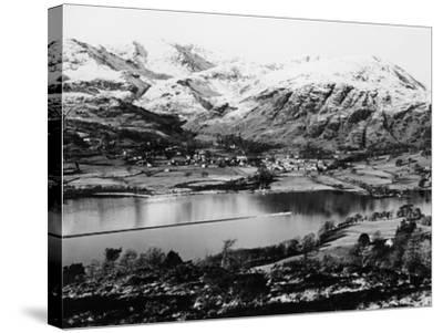 Bluebird K7 on Coniston Water, Cumbria, Possibly Christmas Day, 1966--Stretched Canvas Print