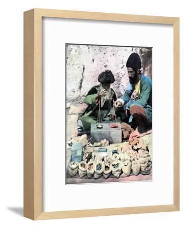 Spice Seller, Royal Palace, Tehran, C1890--Framed Giclee Print