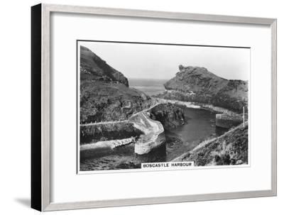 Boscastle Harbour, Cornwall, 1937--Framed Giclee Print