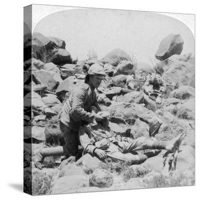 The Last Drop, Battlefield Scene, Dordrecht, South Africa, Boer War, 30 December, 1900-Underwood & Underwood-Stretched Canvas Print