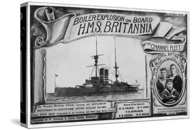 Boiler Explosion on Board HMS 'Britannia, 28th April 1908--Stretched Canvas Print