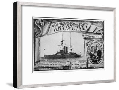 Boiler Explosion on Board HMS 'Britannia, 28th April 1908--Framed Giclee Print