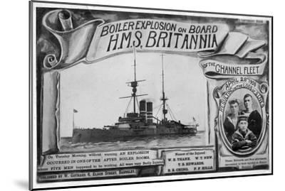 Boiler Explosion on Board HMS 'Britannia, 28th April 1908--Mounted Giclee Print