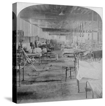 Mud Hall, the Last Prison Occupied by the British Officers at Pretoria, South Africa, 1901-Underwood & Underwood-Stretched Canvas Print