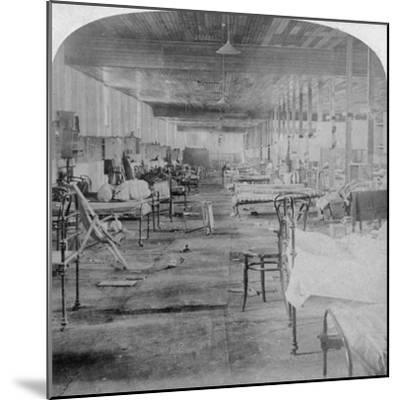Mud Hall, the Last Prison Occupied by the British Officers at Pretoria, South Africa, 1901-Underwood & Underwood-Mounted Giclee Print