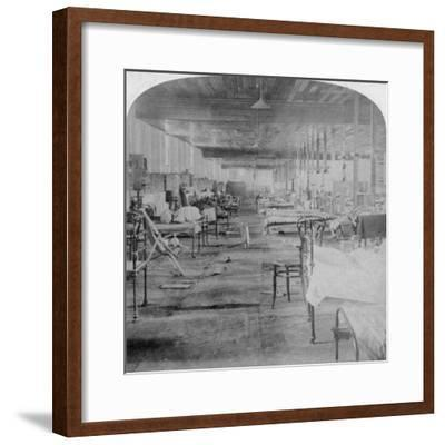 Mud Hall, the Last Prison Occupied by the British Officers at Pretoria, South Africa, 1901-Underwood & Underwood-Framed Giclee Print
