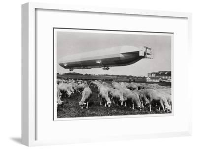 Zeppelin LZ8 Deutschland II, Schwaben, Germany, 1911--Framed Giclee Print